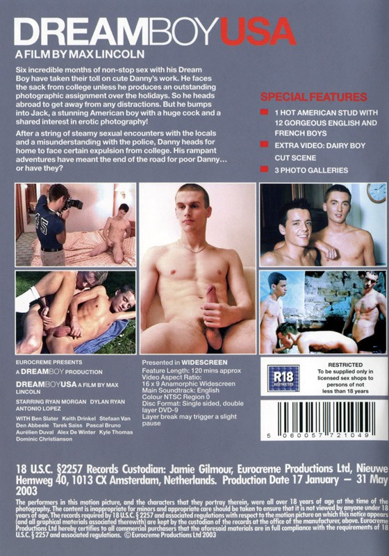 Dreamboy USA DVD - Back