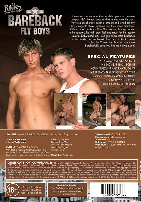 Bareback Fly Boys DVD - Back