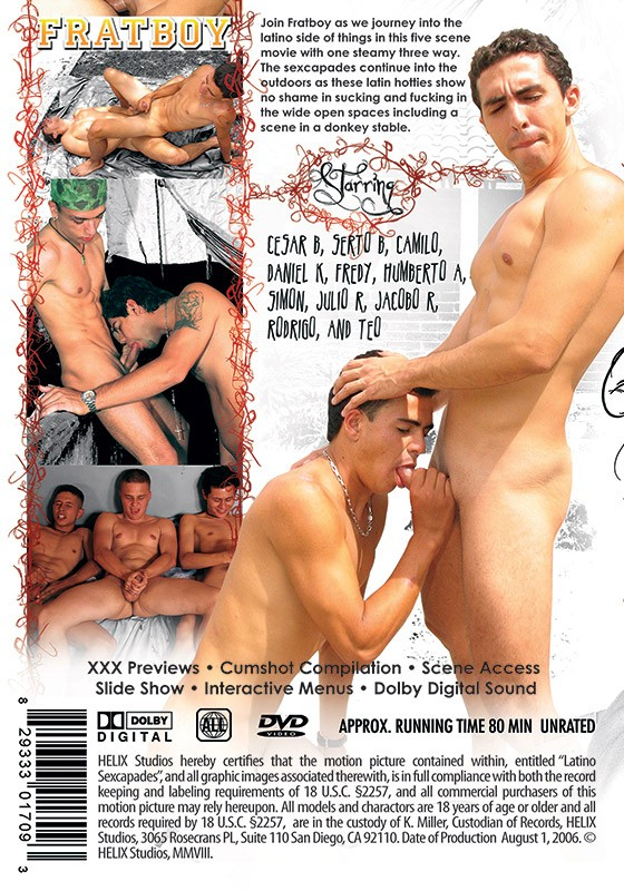 Latino Sexcapades DVD - Back