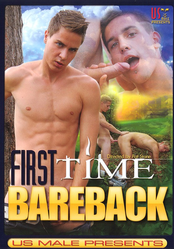 First Time Bareback DVD - Front