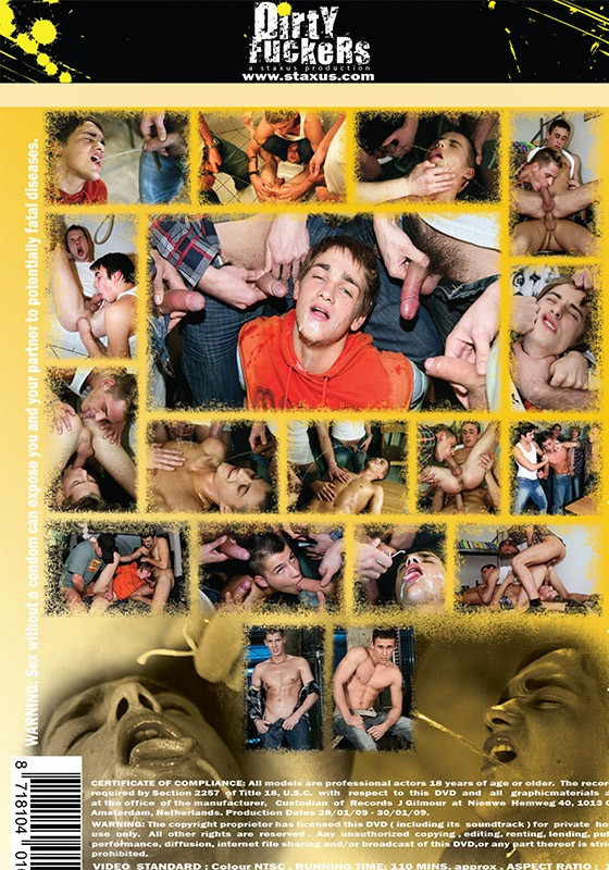 Piss My Cum Away DVD - Back