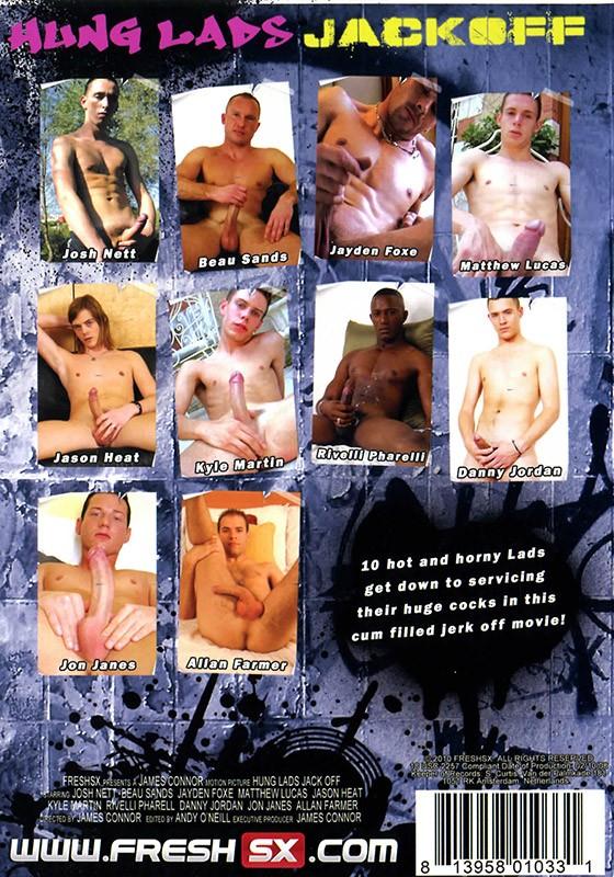 Hung Lads Jack Off DVD - Back