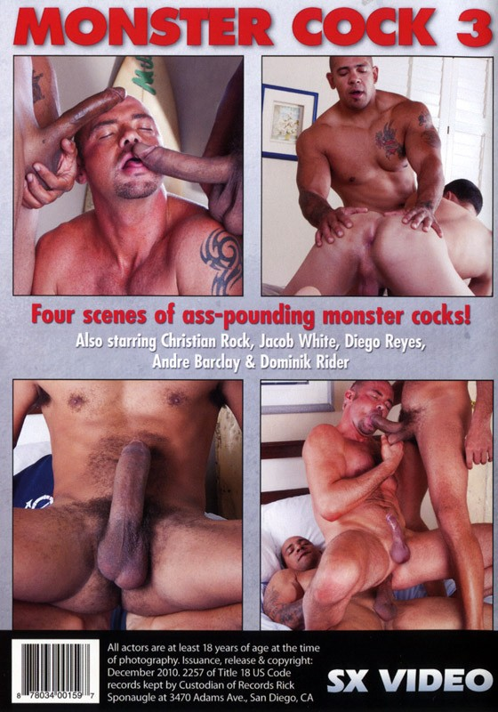 Monster Cock 3 DVD - Back
