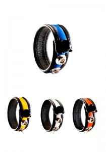 3 Snap Leather Cock Ring - Colors